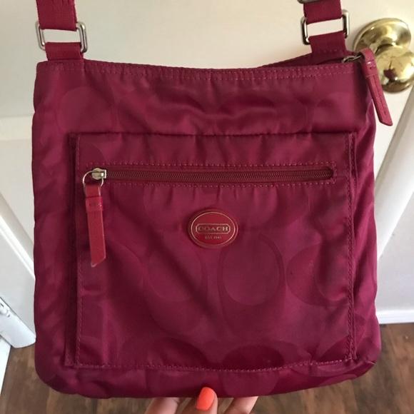 Coach Handbags - Magenta Coach Crossbody Bag